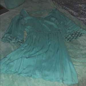 Charlotte Russe teal dress with lace